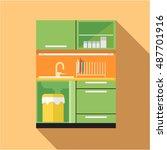 digital vector picture green... | Shutterstock .eps vector #487701916
