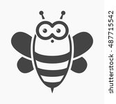 bee black icon. illustration... | Shutterstock .eps vector #487715542