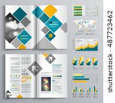 white business brochure... | Shutterstock .eps vector #487723462