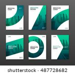 brochure cover design layout... | Shutterstock .eps vector #487728682