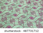 mosaic tile floor background | Shutterstock . vector #487731712
