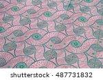 mosaic tile floor background | Shutterstock . vector #487731832