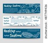 horizontal banners template...   Shutterstock .eps vector #487749436