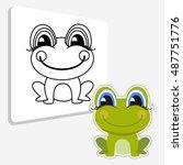 Funny Frog. Frog Cartoon...
