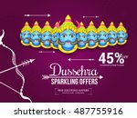 creative illustration sale... | Shutterstock .eps vector #487755916