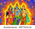 vector design of indian god...   Shutterstock .eps vector #487763116