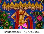 vector design of india festival ... | Shutterstock .eps vector #487763158