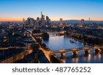 skyline of frankfurt am main... | Shutterstock . vector #487765252