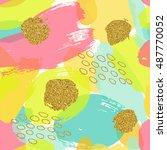 trendy vector seamless pattern... | Shutterstock .eps vector #487770052