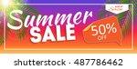 summer sale end of season... | Shutterstock . vector #487786462