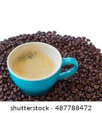 delicious fresh cup of coffee... | Shutterstock . vector #487788472