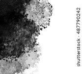 grunge halftone  black and...   Shutterstock .eps vector #487790242