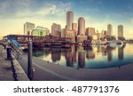 View Of The Boston Harbor In...