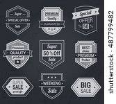 big sale banners  labels ... | Shutterstock .eps vector #487799482
