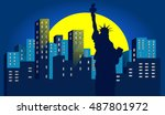 the statue of liberty | Shutterstock .eps vector #487801972