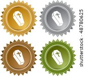 coffin button isolated on a... | Shutterstock . vector #48780625