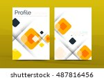 vector colorful square business ... | Shutterstock .eps vector #487816456