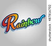 rainbow logo type | Shutterstock .eps vector #487816702