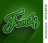 family logo type | Shutterstock .eps vector #487818958