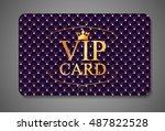 elegant dark vip card ... | Shutterstock . vector #487822528