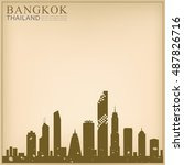 vector landmark of thailand... | Shutterstock .eps vector #487826716
