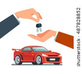 buying or renting a new or used ... | Shutterstock .eps vector #487828852