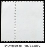 posted stamp  reverse side with ... | Shutterstock . vector #487832092