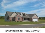 Ranch style home - stock photo