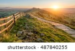 Stone Footpath And Wooden Fence ...