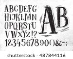 font pencil vintage hand drawn... | Shutterstock .eps vector #487844116