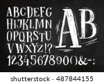 Font Pencil Vintage Alphabet...