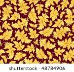 vector seamless gold leaves... | Shutterstock .eps vector #48784906