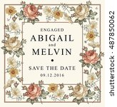 wedding invitation. beautiful... | Shutterstock .eps vector #487850062