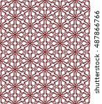 seamless geometric line pattern ... | Shutterstock .eps vector #487866766
