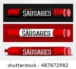 set of horizontal banners... | Shutterstock .eps vector #487872982