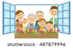 flowers in water to do around a ... | Shutterstock .eps vector #487879996