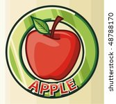 apple label design | Shutterstock .eps vector #48788170
