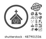 church pictograph with bonus... | Shutterstock .eps vector #487901536