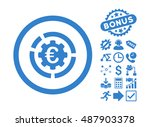 euro diagram options icon with... | Shutterstock .eps vector #487903378