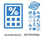 tax calculator pictograph with... | Shutterstock .eps vector #487904986