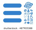 stack pictograph with bonus... | Shutterstock .eps vector #487905388