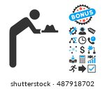 servant with hat pictograph...   Shutterstock .eps vector #487918702
