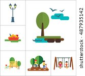 park icon set | Shutterstock .eps vector #487935142