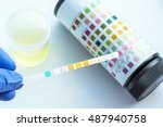 reagent strip for urinalysis  ...   Shutterstock . vector #487940758