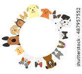 dogs and cats circle | Shutterstock .eps vector #487957552
