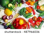 colorful vegetables on the table | Shutterstock . vector #487966036