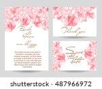vintage delicate invitation... | Shutterstock . vector #487966972