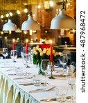 wedding table   Shutterstock . vector #487968472