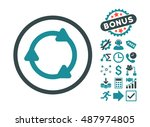 rotate back icon with bonus... | Shutterstock .eps vector #487974805