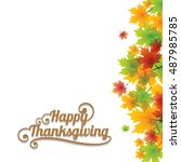 thanksgiving background with... | Shutterstock .eps vector #487985785